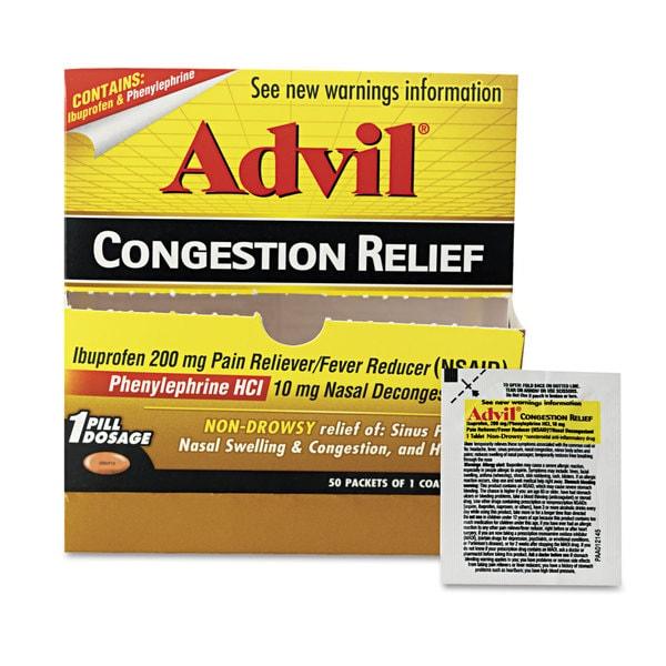 Advil Congestion Relief 50 Count