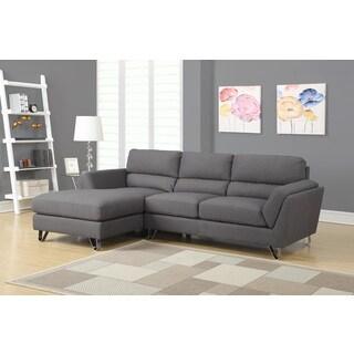 Charcoal Grey Linen Sofa Lounger