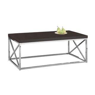 Cappuccino Hollow-core Chrome Metal Cocktail Table
