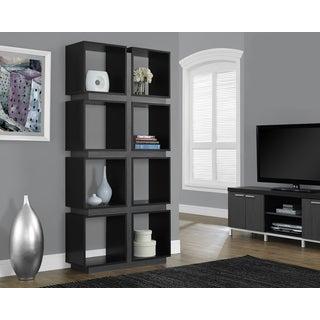 Black and Grey Hollow Core 71-inch Bookcase