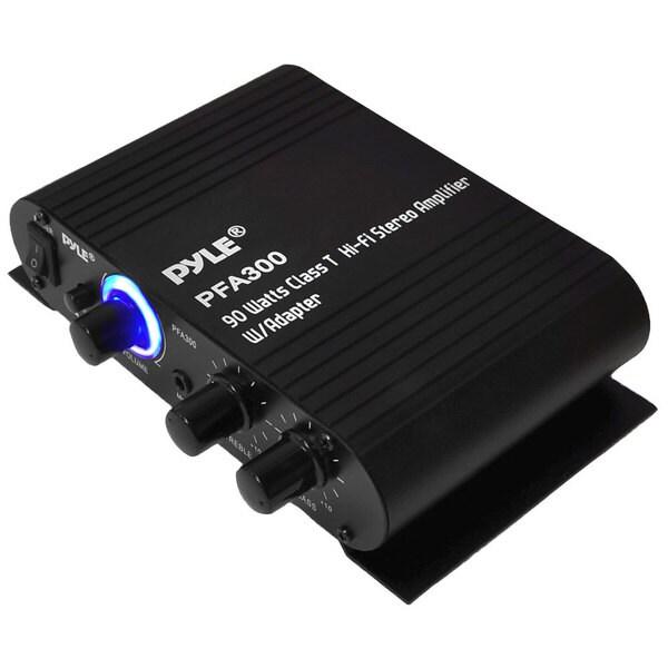 Pyle 90-watt Class-T Hi-Fi Stereo Amplifier with AC Adapter (Refurbished)