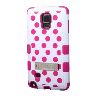 INSTEN Pattern Design Dual Layer Hybrid Stand Rubberized Hard Plastic PC/ Silicone Phone Case Cover For Samsung Galaxy Note 4