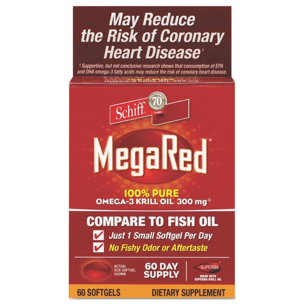 MegaRed Omega-3 Krill Oil Softgel 60 Count