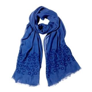 Mela Artisans Hand-woven Wool Hyacinth Scarf (India)