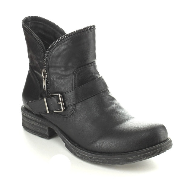 C-Label Women's 'Romo-1' Zipper Trim Riding Boots