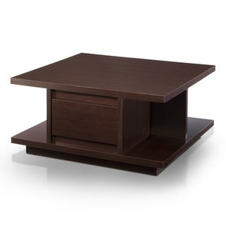 Furniture of America Akamu Walnut Pagoda Coffee Table