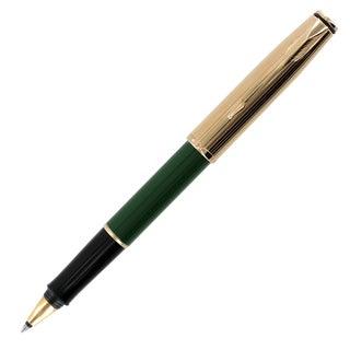 Parker Insignia Custom Green Gold Trim Roller Ball Pen 0.8 mm, Medium Point (71722-11)