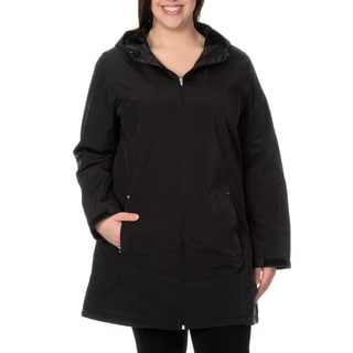 KC Collections Woman's Plus Size Faux Silk Bal McCaan Coat