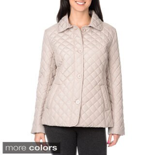 KC Collections Women's Diamond Quilted Barn Jacket