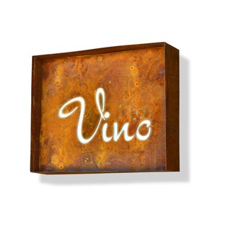 Engraved Vino Iconic Marquee Sign