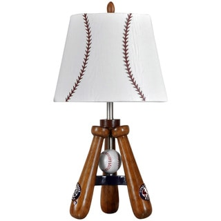 Baseball Theme Bat and Ball Stand Lamp