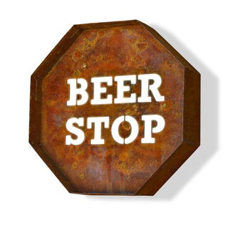 Engraved Beer Stop Iconic Marquee Sign