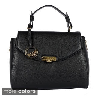 Versace Collection Pebble Leather Satchel