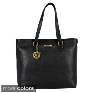 Versace Collection Ladies Pebble Leather Large Tote