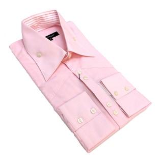 Bogosse Men's Long Sleeve Pink Button Down Shirt
