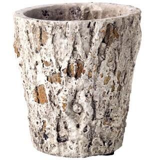5.75-inch x 6-inch Cement Faux Bois Pot