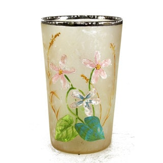 2.5-inch x 4-inch Floral Painted Votive Holder (Pack of 6)