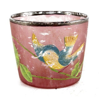 2.5-inch x 3-inch Bird Painted Votive Holder (Pack of 6)