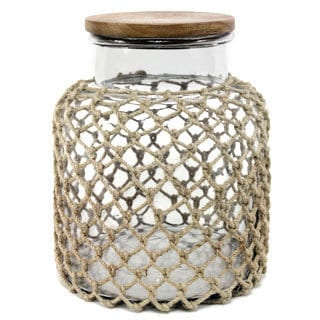 11-inch Glass Jug With Jute