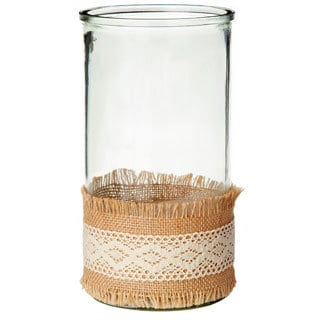5-inch x 9.5-inch Burlap Vase Candle Holder (Pack of 4)