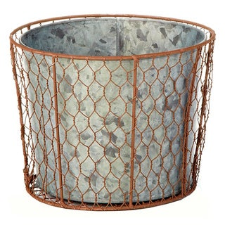 8-inch x 6.25-inch Chicken Wire Pot (Pack of 2)