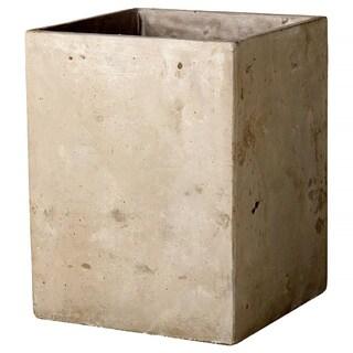 7-inch x 7-inch x 9-inch Cement Square Planter Small