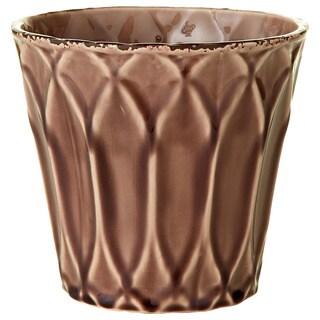 6.69-inch x 6.69-inch x 6.30-inch Ceramic Glazed Pot Large