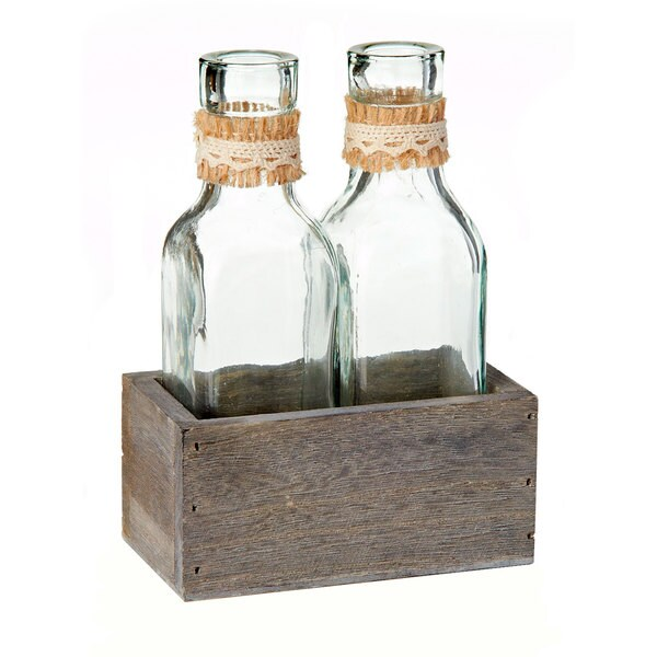 4.5-inch x 2.5-inch x 6-inch Burlap Bottle Holder (Pack of 4)