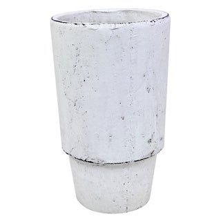 5.5-inch x 9.5-inch Small Cement Fleur Vase