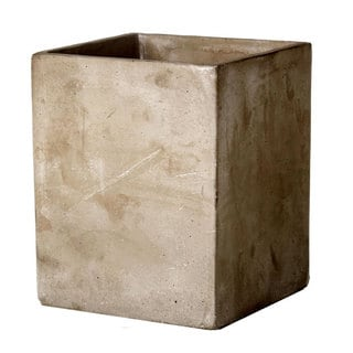 5.5-inch x 5.5-inch x 7-inch Large Cement Square Planter