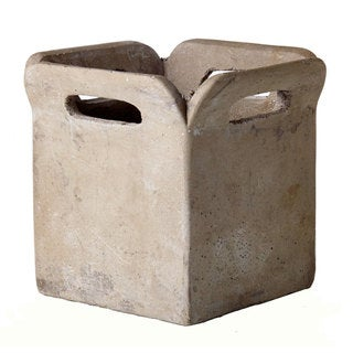 7-inch x 5-inch Cement Brown Bag Planter