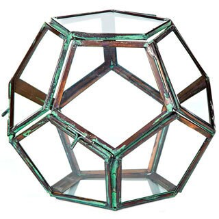 5-inch x 5-inch Glass Terrarium Geodesic