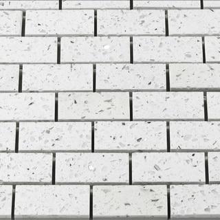 Martini Mosaic Essen 11.75x11.75 White Luster Tiles (Set of 6)