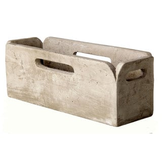 13.5-inch x 5-inch x 5-inch Cement Rectangle Tray Planter