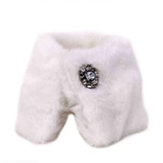 6.25-inch x 5-inch Taffeta Fur Champagne Collar With Jewel (Pack of 6)