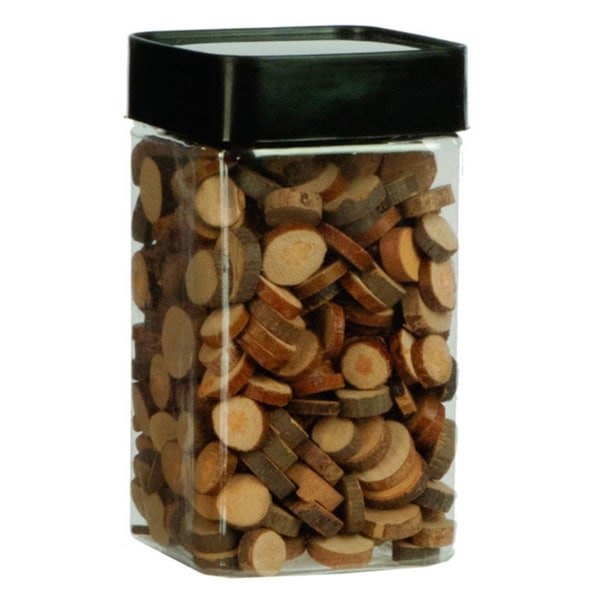 2.6-inch x 2.6-inch x 4.25-inch Deco Wooden Slices (Pack of 12)
