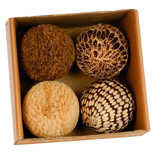 4-inch Natural Ball in Box (Set of 4/ Pack of 24)