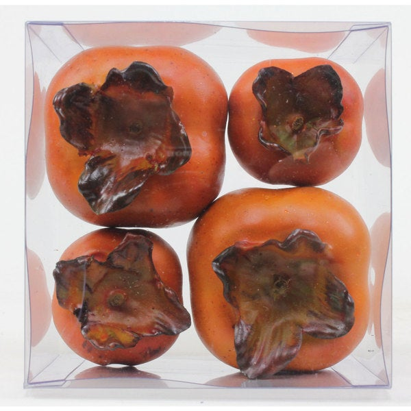 4-inch x 4-inch Persimmon Fruit in Box (Set of 4/ Pack of 48)