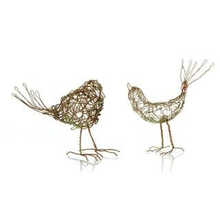 6.75-inch x 5-inch x 4-inch Wire Bird (Pack of 2)