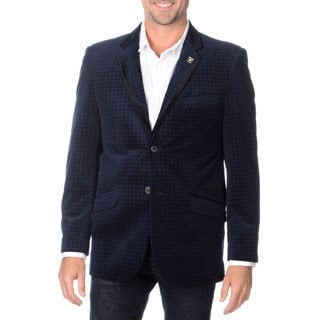 Stacy Adams Men's Velvet Houndstooth Sport Coat