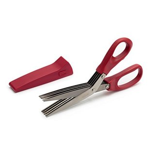 Stainless Steel Red Herb Scissors