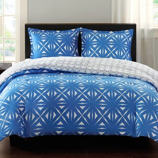 Echo Design Lattice Geo Reversible 3-piece Comforter Set