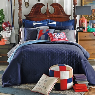 Tommy Hilfiger Prep Solid Midnight Duvet Cover