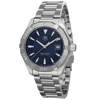 Tag Heuer Men's WAY1112.BA0910 '300 Aquaracer' Blue Dial Stainless Steel Swiss Quartz Watch