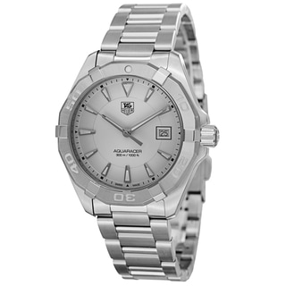Tag Heuer Men's WAY1111.BA0910 '300 Aquaracer' Silver Dial Stainless Steel Swiss Quartz Watch