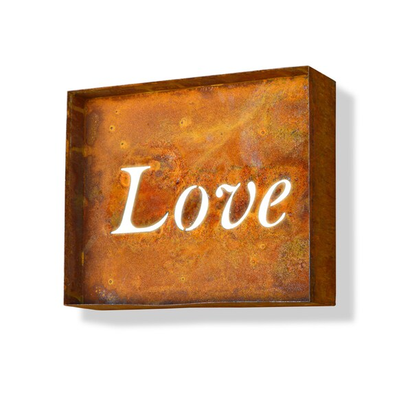 Engraved Love Iconic Marquee Sign