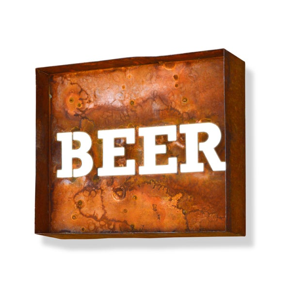 Engraved Beer Iconic Marquee Sign