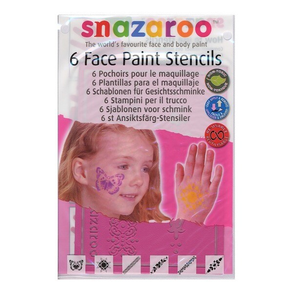 Snazaroo Face Paint Stencils (Pack of 2)
