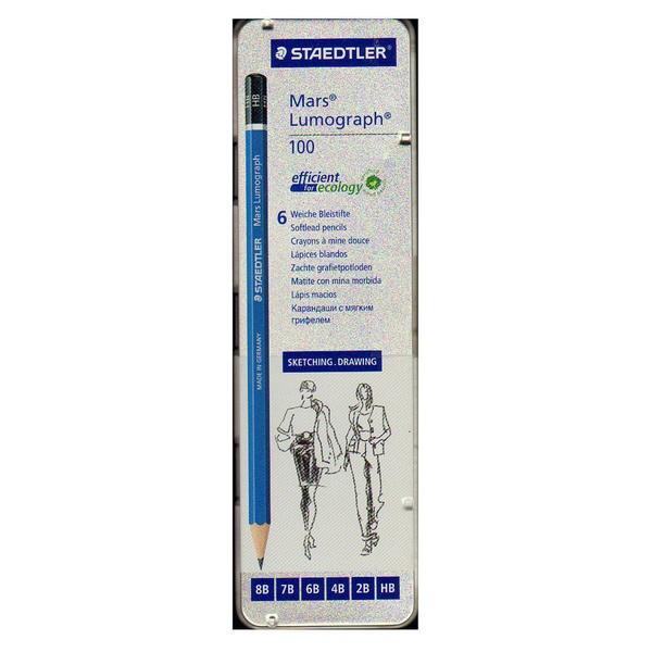 Staedtler Mars Lumograph Sketching Pencil Sets (Pack of 2)