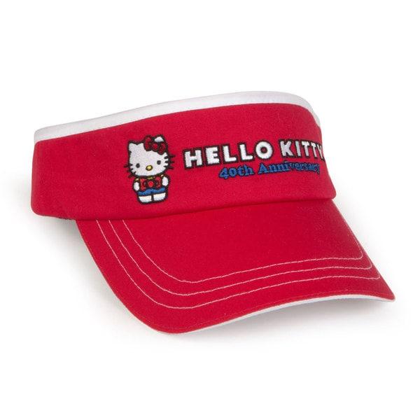 Hello Kitty 40th Anniversary Red Junior Visor